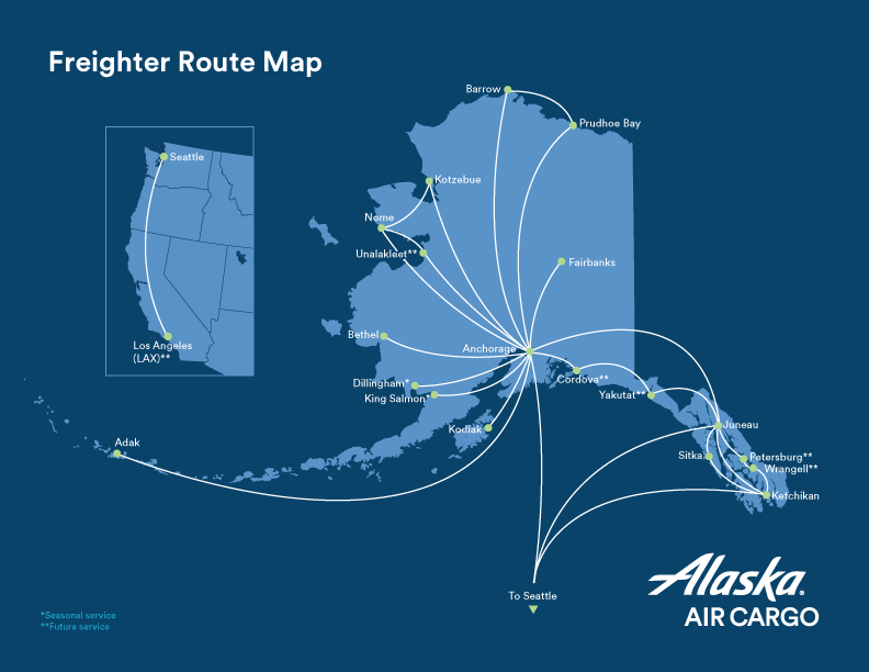 Cargo Route Maps And Zones Alaska Airlines Cargo
