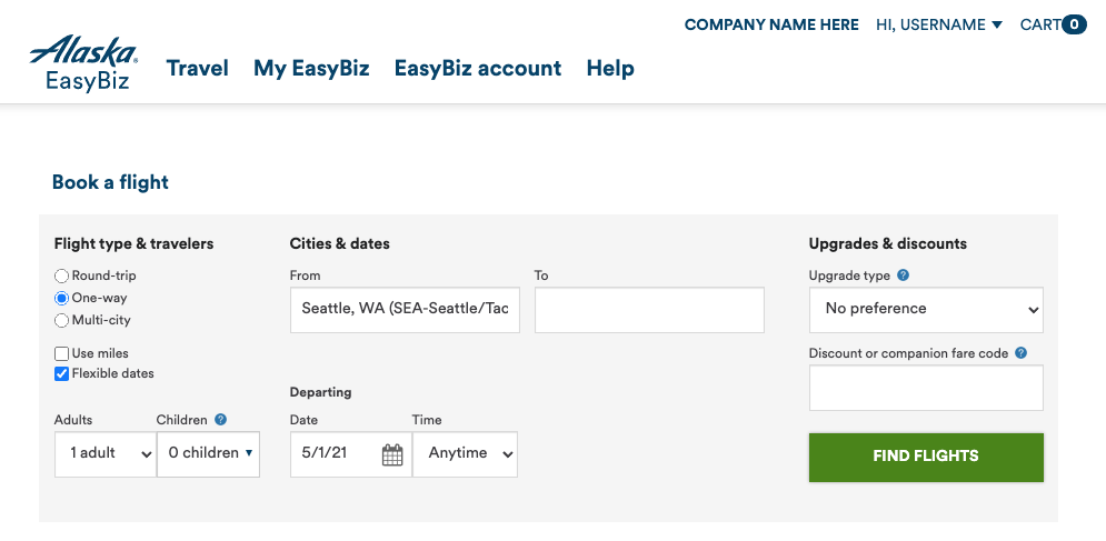 EasyBiz booking formlet