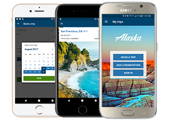 Alaska Airlines mobile apps