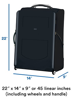 Carry,on luggage size limit