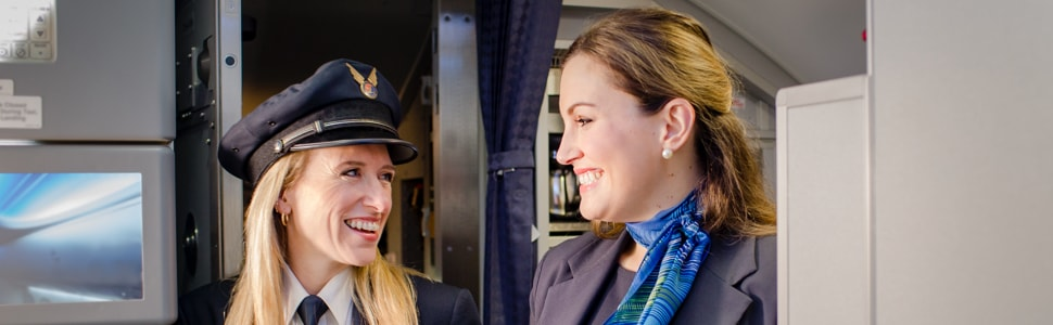 Alaska Airlines flight attendant and pilot