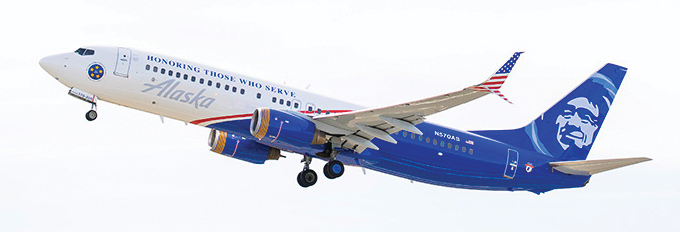 Honoring Those Who Serve Boeing 737-800 aircraft information