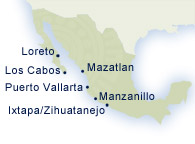 Map of Mexico destinations